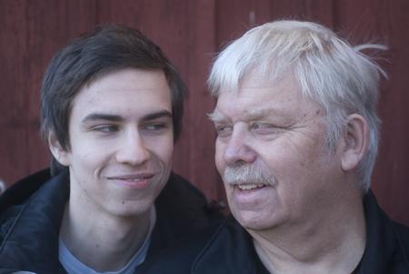 Foto på Hans och Alexander