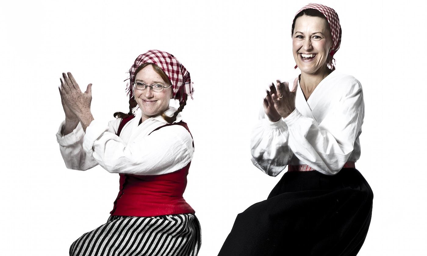 Foto på Maria Jonsson & Sofia Sandén, ©Fotograf Heléne, Falun