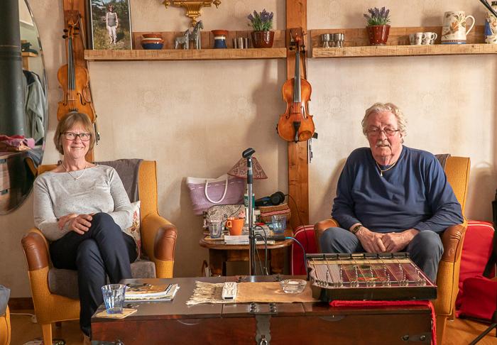 Foto Spelmanspodden 18. Ingrid och Anders Säbb